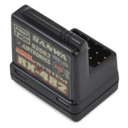 Sanwa 4-channel RX-482 Telemetry Receiver w/ built-in Antenna