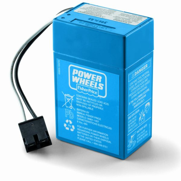 Power Wheels Junior 6-Volt Rechargeab Replacement Battery PWBV6