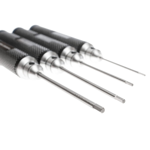 Machined Hex Driver Tool Set: 1.5mm, 2.0mm, 2.5mm, 3.0mm