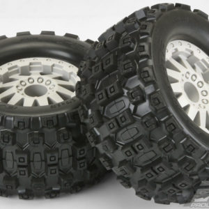 "PRO1012525 Badlands MX28 All Terrain Tires, 2.8"", Mounted on F-11 Stone Gray Wheels, (2pcs)"